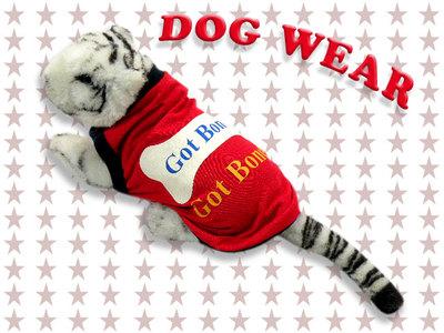 愛犬服 ドッグウェア 犬服 ノースリーブ Got Bones メンズ レディース 男女兼用 ドッグウエア 犬の服 ペット服 犬ウェア 犬洋服 チワワ シーズー トイプードル ミニチュアダックスフンド 洋服 服 dw1-0032