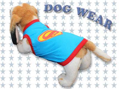 愛犬服 ドッグウェア タンクトップ スーパーワン Super Dog 犬/服/dog/wear/虫よけ/ハロウィン dw3-0003