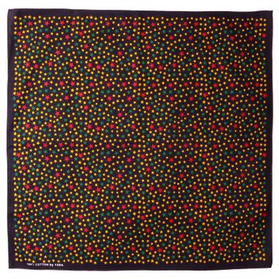 バンダナ 星柄 カラフルスターダスト 小 50×50cm bnd-0052