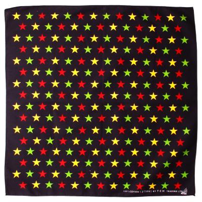 バンダナ 星柄 カラフルスター 50×50cm bnd-0054