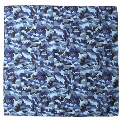 バンダナ 迷彩 ブルー 50×50cm bnd-0066