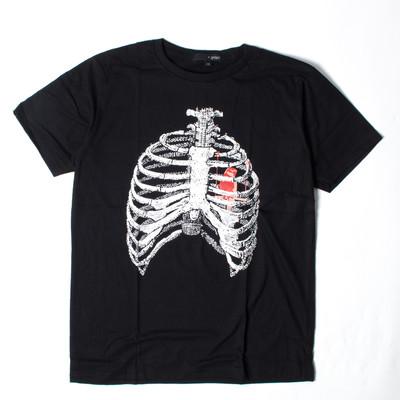 プリントTシャツ 肋骨 メンズ/レディース/半袖/おもしろ/おしゃれ grt-0049