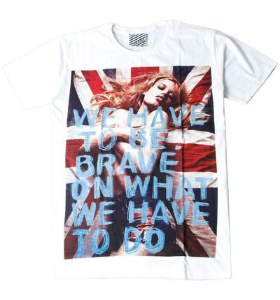 プリントTシャツ We Have To Be Brave On What We Have To Do メンズ/レディース/半袖 ara-0158