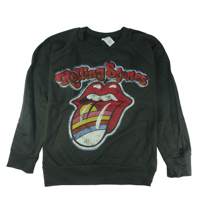ロックトレーナー 裏パイル地 The Rolling Stones ザ ローリング ストーンズ 虹色唇 bs2-0008