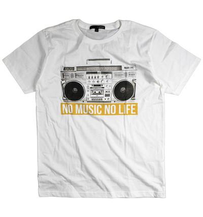 プリントTシャツ NO MUSIC NO LIFE メンズ/レディース/半袖/おもしろ/おしゃれ grt-0014