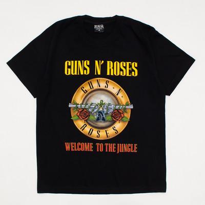 ロックTシャツ GUNS N' ROSES ガンズ・アンド・ローゼズ welcome to the jungle reo-0318