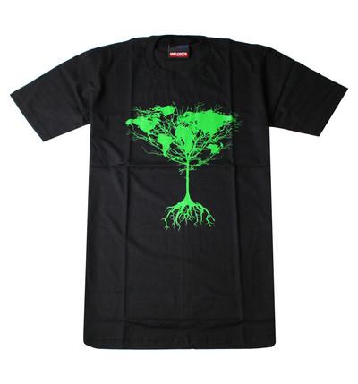 プリントTシャツ Tree of earth 世界樹 メンズ/レディース/半袖/おもしろ/おしゃれ udt-0021(unf-)