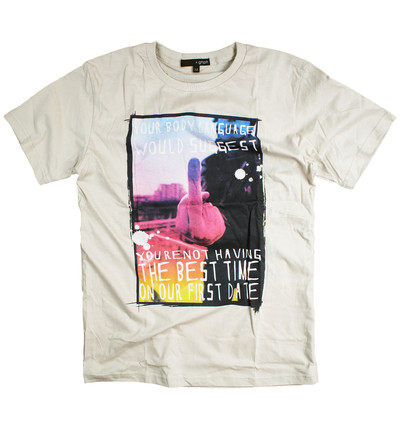 プリントTシャツ The Finger メンズ/レディース/半袖/おもしろ/おしゃれ grt-0007-c1
