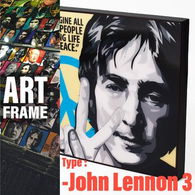 ポップアートフレーム 壁掛け 25cm×25cm John_Lennon_3 インテリア/絵画/おしゃれ/雑貨 paf-0584