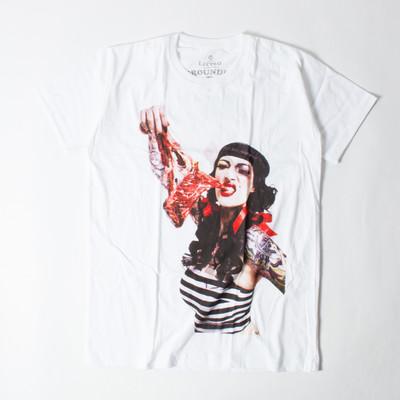 ロックTシャツ Horror Pops ホラーポップス パトリシア サイコビリー 肉 メンズ/レディース/半袖 ebi-0336