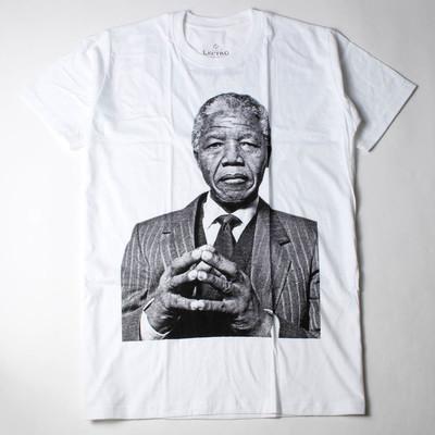 プリントTシャツ Nelson Mandela ネルソン マンデラ 大統領 メンズ/レディース/半袖/おもしろ/おしゃれ ebi-0319