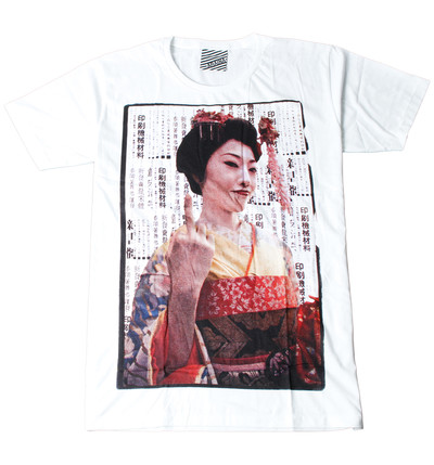 プリントTシャツ 舞妓 メンズ/レディース/半袖/おもしろ/おしゃれ ara-0150
