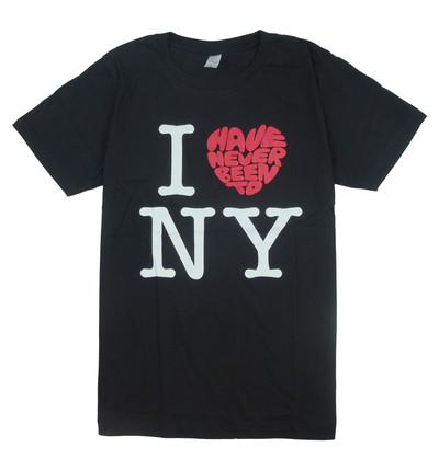 プリントTシャツ I LOVE (Have Never Been To) NY メンズ/レディース/半袖/おもしろ/おしゃれ nki-0005
