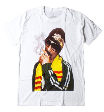 ロックTシャツ Snoop Dogg スヌープ ドッグ サングラス タバコ カラー ebi-0292