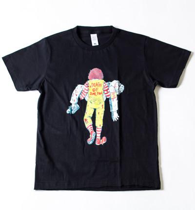 キッズ プリントTシャツ DEATH OF JUNK FOOD ボーイズ/ガールズ/半袖/おもしろ/子ども/子供服/ハロウィン gpk-0011