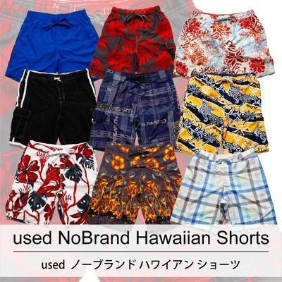 used No Brand Hawaiian Shorts 古着 ノーブランド ハワイアン ショートパンツ 1着あたり800円 10着セット MIX アソート use-0088