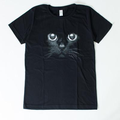プリントTシャツ クロネコ メンズ/レディース/半袖/おもしろ/おしゃれ nki-0039