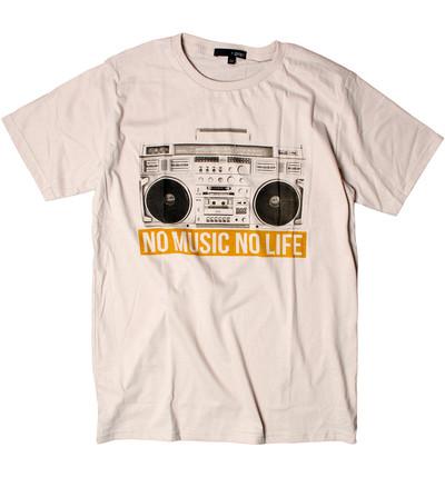 プリントTシャツ NO MUSIC NO LIFE メンズ/レディース/半袖/おもしろ/おしゃれ grt-0014-c1