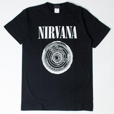 ロックTシャツ Nirvana ニルヴァーナ サークル wft-0232