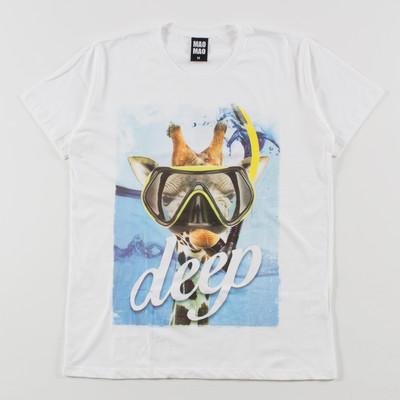 クルーネック プリントTシャツ キリン mao-0032