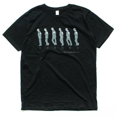 デザインTシャツ How to moonwalk step by step ハウトゥームーンウォーク nki-0041