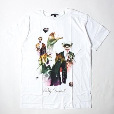 プリントTシャツ Party Animal メンズ/レディース/半袖/おもしろ/おしゃれ grt-0039