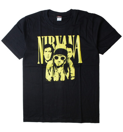 ロックTシャツ Nirvana ニルヴァーナ イエローフォト gts-0194