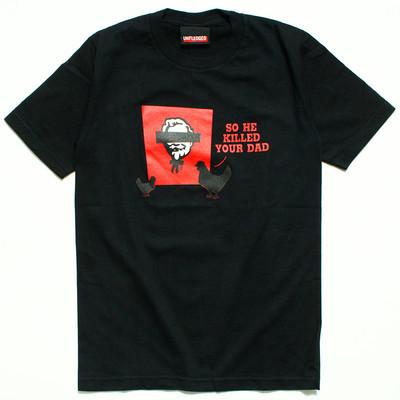 プリントTシャツ So He Killed Your Dad メンズ/レディース/半袖/おもしろ/おしゃれ/ハロウィン urt-0017(unf-)