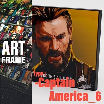 ポップアートフレーム 壁掛け 25cm×25cm  Captain_America_6インテリア/絵画/おしゃれ/雑貨 paf-0779