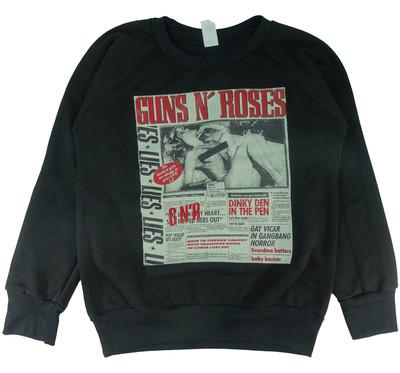ロックトレーナー 裏起毛 Guns N' Roses ガンズ アンド ローゼズ GN'R LIES bs1-0021
