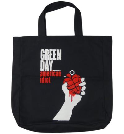 ロックトートバッグ Green Day グリーンデイ American Idiot ブラック wob-0007