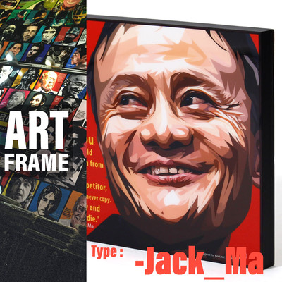 ポップアートフレーム 壁掛け 25cm×25cm Jack_Ma ジャック・マー インテリア/絵画/おしゃれ/雑貨 paf-0368