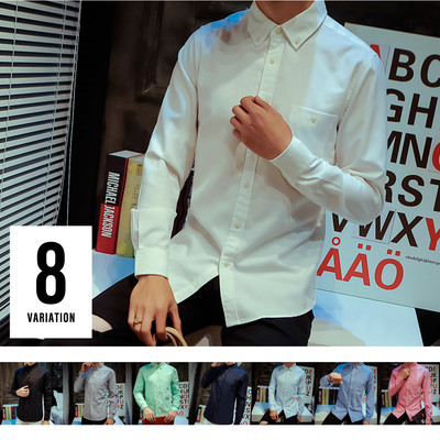 無地 ボタンダウンシャツ 長袖 M-5XL メンズ 無地 オックスシャツ 長袖シャツ ワイシャツ コットンシャツ カジュアル 大きいサイズ cms-0004