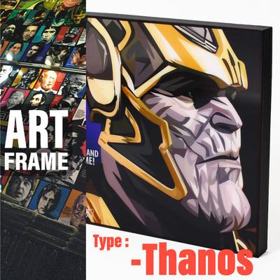 ポップアートフレーム 壁掛け 25cm×25cm Thanos インテリア/絵画/おしゃれ/雑貨 paf-0429