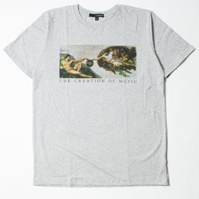 プリントTシャツ 名画 THE CREATION OF MUSIC メンズ/レディース/半袖/おもしろ/おしゃれ grt-0060-c1