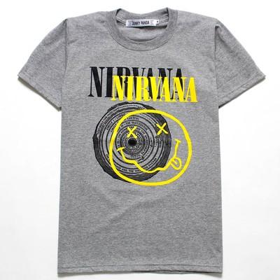 ロックTシャツ Nirvana ニルヴァーナ ニコちゃん×サークル jp2-0003
