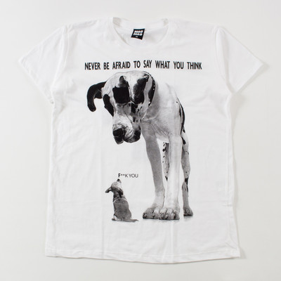 クルーネック プリントTシャツ 大きい犬 mao-0034