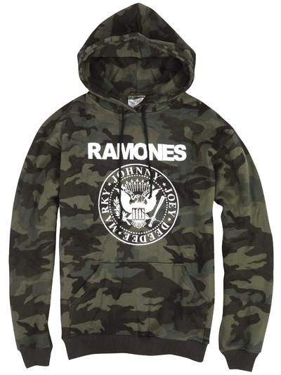 カモフラ プルオーバー ロックパーカー Ramones ラモーンズ ロゴ agp-0019