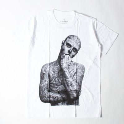 プリントTシャツ Rick Genest リック ジェネ Zombie Boy ゾンビボーイ メンズ/レディース/半袖 ebi-0331
