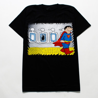 デザインTシャツ Super Hero メンズ/レディース/半袖/おもしろ/おしゃれ  hdt-0101(hea-)