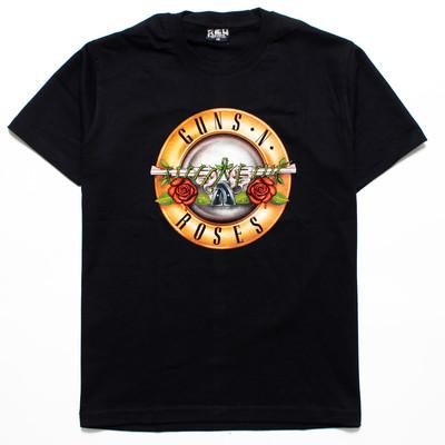 ロックTシャツ GUNS N' ROSES ガンズ・アンド・ローゼズ 薔薇と銃 reo-0341