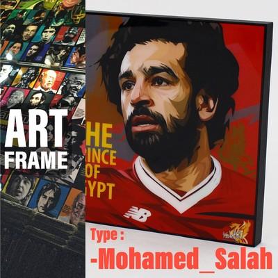 ポップアートフレーム 壁掛け 25cm×25cm  Mohamed_Salahインテリア/絵画/おしゃれ/雑貨 paf-0780