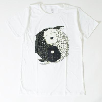 プリントTシャツ 鯉 太極図 メンズ/レディース/半袖/おもしろ/おしゃれ nki-0038
