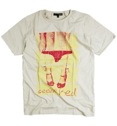 プリントTシャツ seeing red メンズ/レディース/半袖/おもしろ/おしゃれ grt-0013-c1