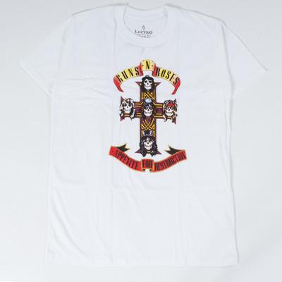ロックTシャツ Guns N' Roses ガンズ アンド ローゼズ Appetite For Destruction ロゴ ebi-0296