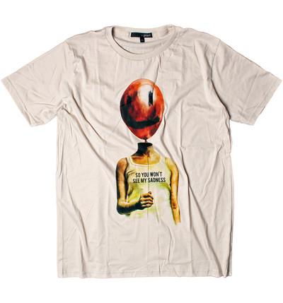 プリントTシャツ SO YOU WON'T SEE MY SADNESS メンズ/レディース/半袖/おしゃれ/ハロウィン grt-0020-c1