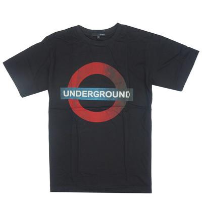 プリントTシャツ UNDERGROUND サークル メンズ/レディース/半袖/おもしろ/おしゃれ grt-0001