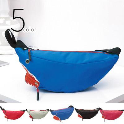 サメ ショルダーバッグ メンズ レディース 男女兼用 ユニセックス キッズ 斜めがけ ボディバック ウエストポーチ バナナバッグ リュック 通帳ケース 軽い サメ 鮫 おもしろ かわいい 人気デザイン csb-0003