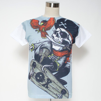 Gibage プリントTシャツ ghost captain ggt-0198