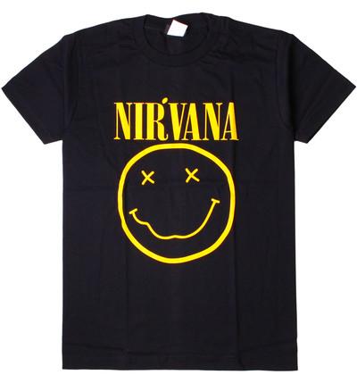 ロックTシャツ Nirvana ニルヴァーナ ニコちゃん Smiley Face wft-0227